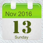 Nov 2016 13 Sunday